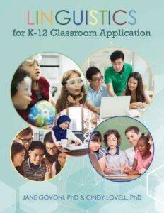 Linguistics for K-12 Classroom Application Textbook Cover Image